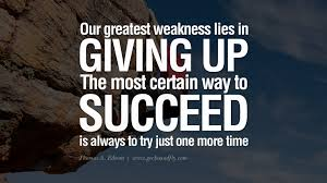 giving up and succeeding