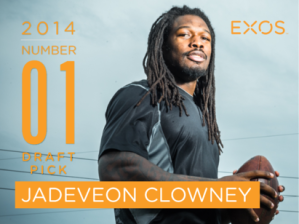 The #1 overall pick in the 2014 NFL Draft, Jadeveon Clowney, trained at EXOS with Mark Verstegen.