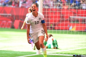 Carli Lloyd became an international hero overnight after scoring a hat-trick in the US' World Cup win.