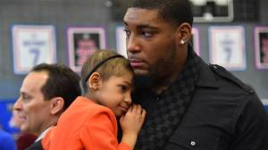 Cincinnati Bengal Defensive Tackle Devon Still and his daughter Leah, who has been battling a rare form of pediatric cancer, were honored with the Jimmy V Award for Perseverance.