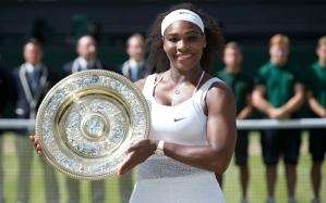 Serena Williams won the Ladies Final at Wimbledon 2015 against Garbine Muguruza.