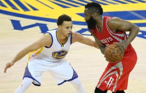 Adidas' new superstar James Harden faces off against the face Under Armour's brand, Steph Curry.