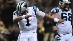 """Cam Newton, and his infamous """"Dab"""", has taken the NFL by storm this season by leading the Panthers to an undefeated record."""